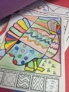 Integrating art is easy when you let kids work on interactive coloring sheets for fall and thanksgiving--no two are ever the same and they encourage problem solving and critical thinking!