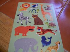 Zoo Animal Stickers