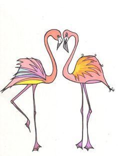 Flamingos by Alexa Loy