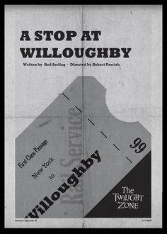 A Stop at Willoughby - Twilight Zone Posters by Luke Vickers
