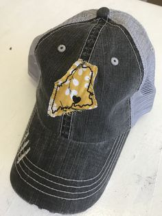 Love Maine Distressed Trucker Hats by Gracie Designs 522399f09199