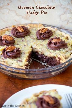 German Chocolate Fudge Pie | Two in the Kitchen