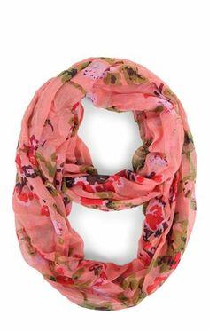 Deb Shops Pastel #Floral Print Infinity #Scarf $14