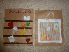 Groceries--quiet book idea by tanisha