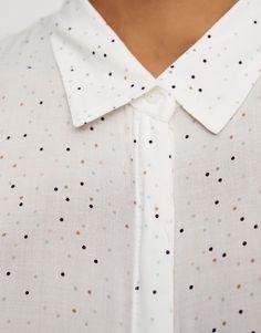 Camisa básica manga larga - Blusas y camisas - Ropa - Mujer - PULL BEAR  México 83f247dea4