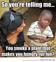 Third world skeptical kid doesn't get it…