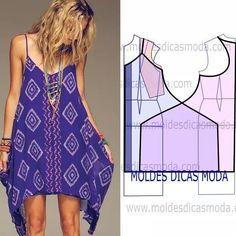 http://moldesdicasmoda.com/vestido-de-praia-271/ #modafeminina #modamujer…