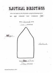 Nautical Directions - Free Printable for a learning activity for kids