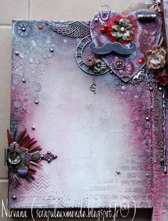 Canvas, Mixed Media, Scrap'uleux Stock