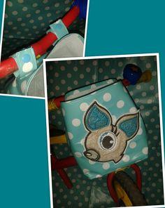 Laufradtasche (das Reh stammt von einem ausrangierten Pullover :) )