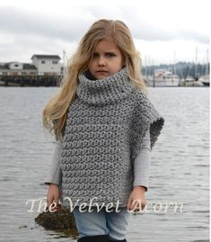 Aura Pullover Crochet pattern by The Velvet Acorn Knitting For Kids, Crochet For Kids, Knitting Projects, Baby Knitting, Crochet Projects, Crochet Pullover Pattern, Knit Crochet, Crochet Patterns, Poncho Patterns