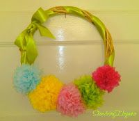 Shoestring Elegance: Paper Flower Tutorial and a Summer Wreath for > $3...