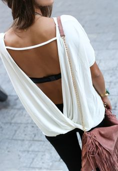 Spring Outfit - Low back top! <3