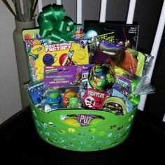 25 great easter basket ideas tackle box goldfish crackers and teenage mutant ninja turtles tmnt pre filled easter basket gift teenagemutantninjaturtles tmnt boy boys girl girls children kids easter negle Image collections