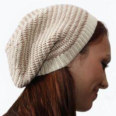 Crochet Striped Slouch Hat Pattern - Knitting Patterns and Crochet Patterns from KnitPicks.com