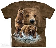 Dazzle your friends with the stylish Find 10 Brown Bears Kids T-Shirt from The Mountain. Shop our huge selection of animal tees and wear one every day of the week! Grizzly Bear Animal, Grizzly Bears, Hidden Images, Image T, Thing 1, Bear Design, Bear T Shirt, Man Shirt, Love Bear