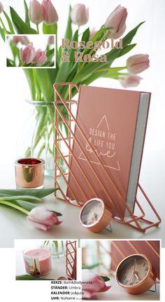 Schreibtisch Inspirationen Rosegold Tulpen