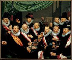 Frans Pietersz de Grebber, Banquet of the Officers and Subalterns of the St George Civic Guard, 1618. Frans Hals Museum #haarlem #franshalsmuseum @Frans Hals Museum #art