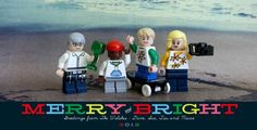 Lego Christmas Card - with specialized minifig's to match the personalities of the family!
