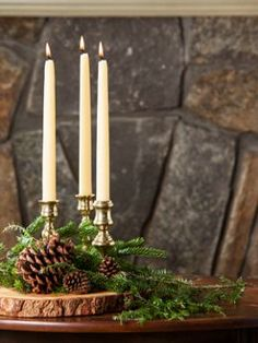 Natural Dripless Beeswax Taper Candles | Perfect for the Thanksgiving table setting!
