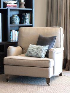 Natural Linen Roll Armchair