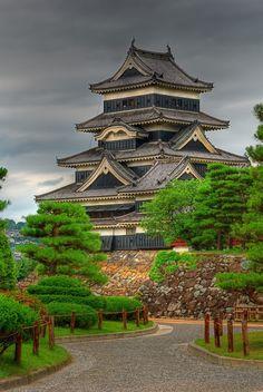 Crow Castle in Matsumoto, Nagano, Japan