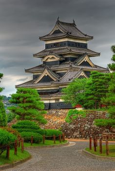 Crow Castle, or Matsumoto Castle, Nagano, Japan.