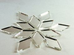"1"" X 1/2"" Diamond Shape Mirror Mosaic Tile. 150 Pcs Craft Aleksander Hreben New"