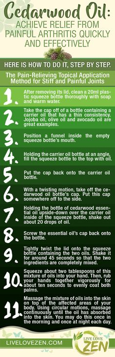 Cedarwood Oil: Achieve Relief from Painful Arthritis Quickly and Effectively