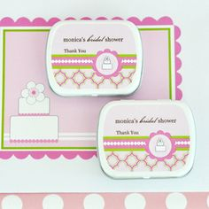 Personalized Mint Tins - Pink Cake