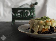 #Ensalada con salsa de frutos secos www.Delicatessendiferentes.blogspot.com.es/