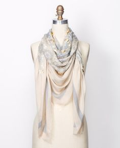 2f2682330504f Anntaylor · FOIL MEDALLION PRINT SCARF - Adorned with shimmery foil  accents