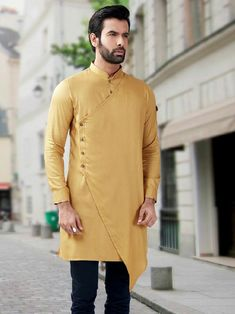 Buy pathani kurta online for festive function. Get wide range of pathani kurta designs for mens from the best Men's brand in India Sachin's. Kurta Pajama Men, Kurta Men, Boys Kurta, Indian Men Fashion, Mens Fashion Wear, Suit Fashion, Ethnic Fashion, African Fashion, Fashion Dresses