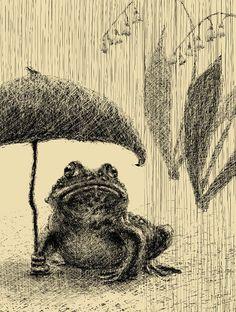 Bullfrogs Hate Rain by LisaGloria