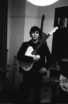 """Syd Barrett, in 1965, with his Fender Esquire. Photographer Nick Aarestrup Roddik recalls shooting the band at The Boom Dancing Center in 1967: """"I was standing at the front but couldn't move, I could only take pictures of Syd Barrett and Nick Mason. After the concert, Syd Barrett said: 'Why do the audience scream so much? Why don't they clap?"""""""