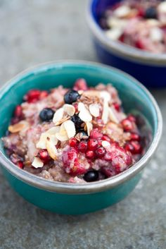 Warm Quinoa Breakfast Porridge. Perfect for cold winter mornings, this quinoa porridge will warm you up, plus it's packed full of iron and protein.
