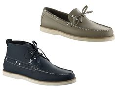 As part of the Spring/Summer 2011 Collection, French luxury brand Louis Vuitton presents the Yucatan and Yucatan High boat shoe. Louis Vuitton Presents, French Luxury Brands, Louis Vuitton Shoes, Sperrys, Hustle, Boat Shoes, Two By Two, Sidewalk, Dress