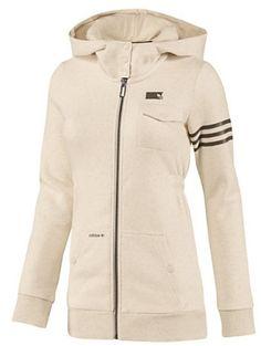 Originals Womens GRAPHIC Hoodie Tan White Retro Sweater Long jacket