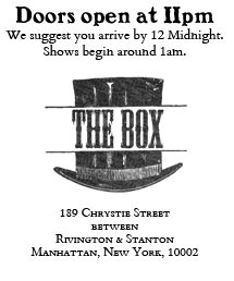 The Box in NYC | Follow Jim (avoid stalking though) through Manhattan on THE JIM GAFFIGAN SHOW starring Jim Gaffigan. Discover full episodes at   http://www.tvland.com/shows/the-jim-gaffigan-show.