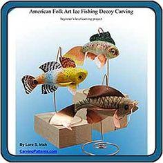 Whittling Folk Art Fish Decoys
