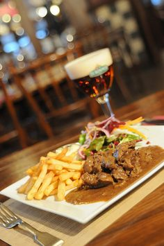 "Beefstew and Antwerp beer De Koninck. Must be included in your #Antwerp #travel #BucketList #restaurant #hotel #bar #list #local. To discover and collect amazing bucket lists created by local experts, visit ""City is Yours"" http://www.cityisyours.com/explore."