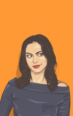 Veronica Lodge without her Pearls! Portrait Vector, Digital Portrait, Portrait Art, Riverdale Comics, Riverdale Veronica, Riverdale Fashion, Caricature, Riverdale Characters, Riverdale Cast