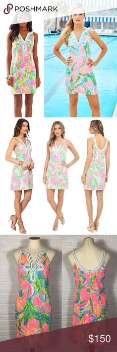 """NWT Lilly Pulitzer Tessa Shift Multi So A Peeling Brand: Lilly Pulitzer Size: 0 Style: Tessa Shift Color: Multi So A Peeling  Bust: 16.5"""" Waist: 16"""" Length: 34""""  Condition: New with tags  Smoke free Pet friendly  No trades Open to offers! Lilly Pulitzer Dresses Mini"""