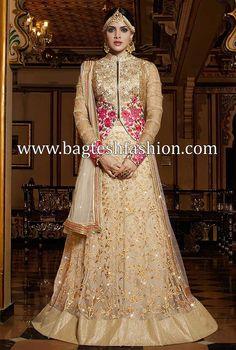 Fashionable Ivory Net A Line Lehenga Choli