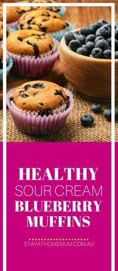 Any muffin is worth eating in our eyes, but if you want a muffin without a junk-guilt, these Healthy Sour Cream Blueberry Muffins are the answer. Blueberry Oatmeal Muffins, Blue Berry Muffins, Healthy Sour Cream, Simple Muffin Recipe, Poke Cakes, Healthy Muffins, Frozen Blueberries, Vanilla Flavoring, Muffin Recipes