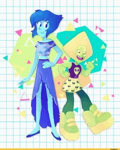 Steven universe,фэндомы,Lapis Lazuli,SU Персонажи,Peridot,SU art