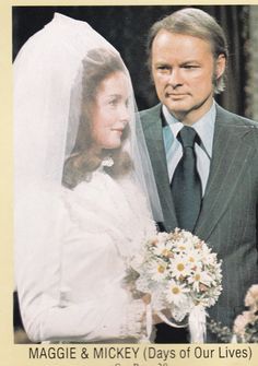 Maggie and mickey's wedding 1974 Movie Wedding Dresses, Wedding Movies, Wedding Pics, Wedding Day, Santa Barbara Soap Opera, Beautiful Love Stories, Beautiful People, Vintage Television, Soap Stars