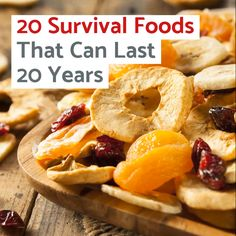 As long as you take the right precautions, these 20 survival foods will last at least 20 years, allowing you to ride out any disaster without going hungry. Best Survival Food, Emergency Preparedness Food, Emergency Preparation, Survival Prepping, Survival Skills, Survival Gear, Survival Quotes, Survival Hacks, Survival Videos