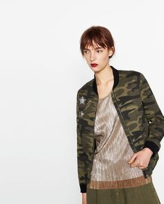 CAMOUFLAGE BOMBER JACKET-View all-OUTERWEAR-WOMAN | ZARA United States