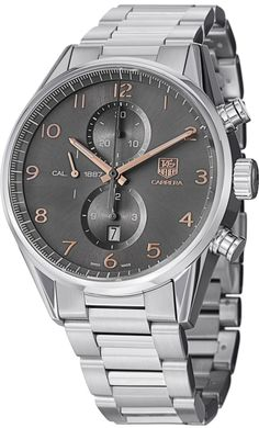 33fc5f6239b TAG Heuer Carrera Automatic Chronograph Anthracite Dial Mens Watch  CAR2013.BA0799